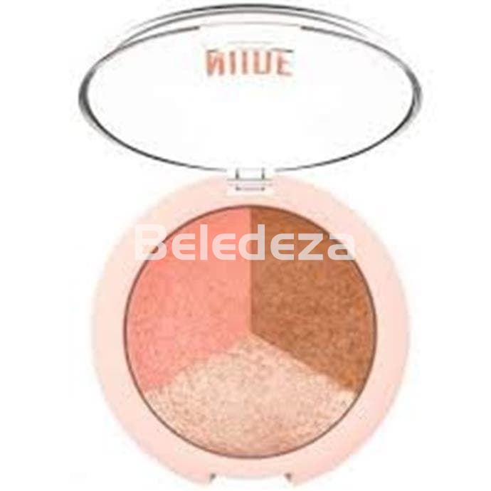 NUDE LOOK BAKED TRIO FACE POWDER Polvo facial Trio Colorete/ Bronceador/ Iluminador - Imagen 2