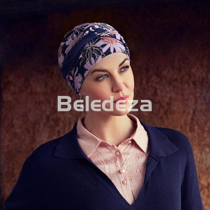 SHAKTI TURBAN FLOWERING BLUES Turbante Shakti Azul con Flores - Imagen 1