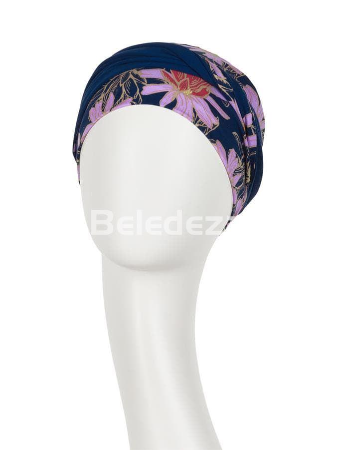 SHAKTI TURBAN FLOWERING BLUES Turbante Shakti Azul con Flores - Imagen 2