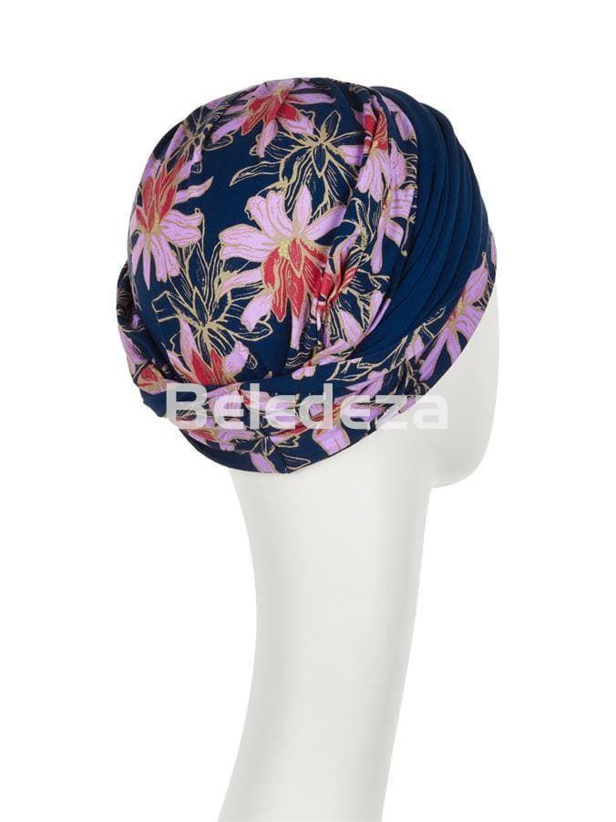 SHAKTI TURBAN FLOWERING BLUES Turbante Shakti Azul con Flores - Imagen 3