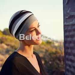 SHANTI TURBAN BLACK/BROWN Turbante Negro/Marrón - Imagen 1