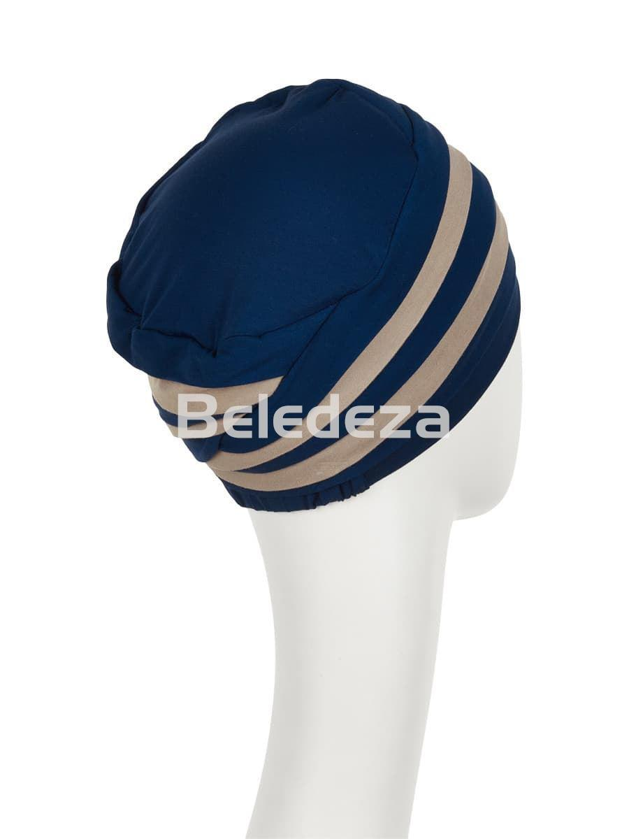SHANTI TURBAN MIXED COLOURS NIGHT BLUE/DARK SAND Turbante Shanti Mezcla Colores Azul/ Arena - Imagen 3